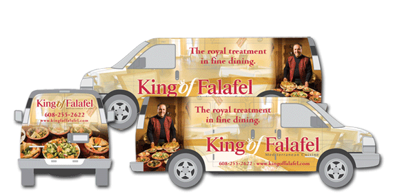 King of Falafel Van Wrap